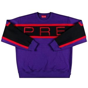 Supreme Paneled Crewneck Purple (SS21) 💜